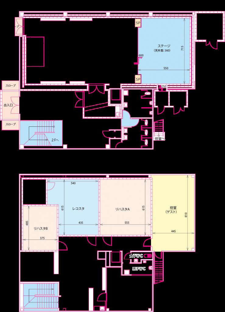 ライブハウス立面図